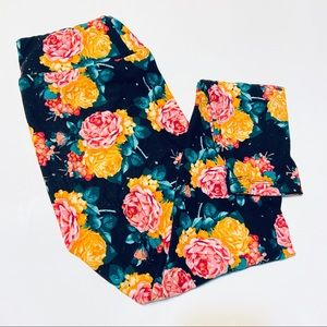 Rose Print LuLaRoe Leggings